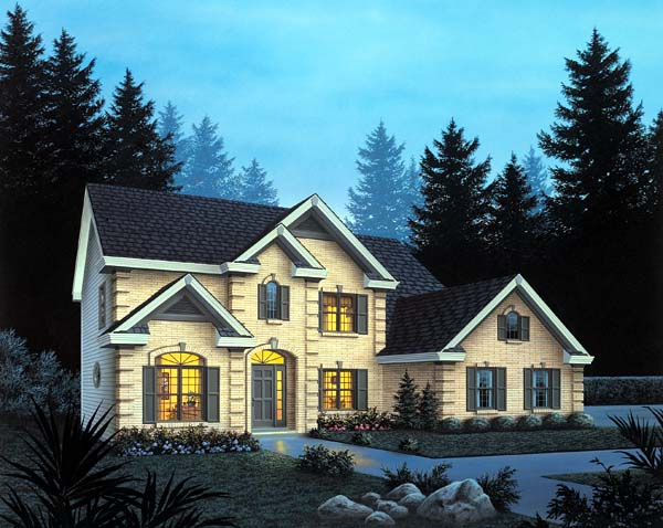 Traditional House Plan 87313 with 4 Beds, 3 Baths, 3 Car Garage Elevation