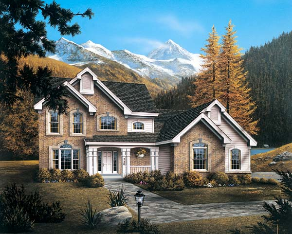 Country House Plan 87314 Elevation