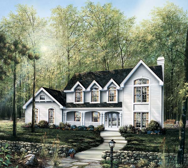 Country House Plan 87315 with 4 Beds , 4 Baths , 3 Car Garage Elevation