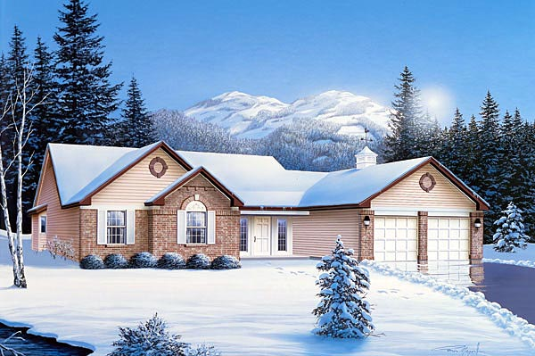 Ranch House Plan 87319 Elevation