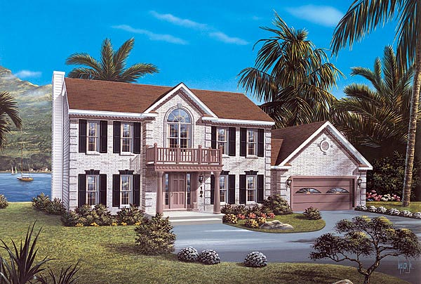 Colonial House Plan 87321 Elevation
