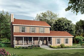Country House Plan 87324 with 3 Beds, 3 Baths, 2 Car Garage Elevation