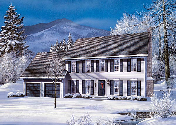 Colonial House Plan 87326 Elevation