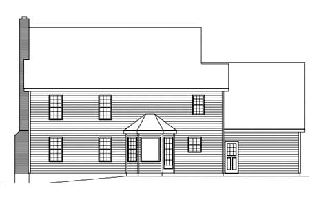 Colonial House Plan 87326 Rear Elevation