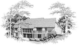 House Plan 87335 | Country Style Plan with 2531 Sq Ft, 4 Bedrooms, 3 Bathrooms, 2 Car Garage Elevation