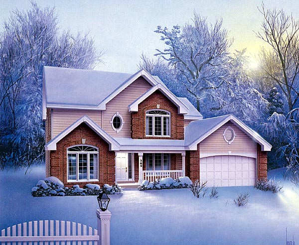 Traditional House Plan 87336 with 4 Beds, 3 Baths, 2 Car Garage Elevation