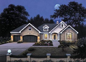 Traditional House Plan 87339 with 4 Beds, 3 Baths, 3 Car Garage Elevation