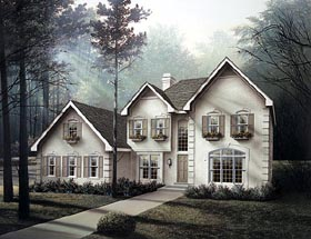 Traditional House Plan 87340 with 4 Beds, 5 Baths, 2 Car Garage Elevation