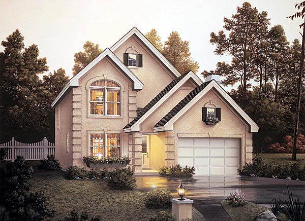 Traditional House Plan 87342 with 4 Beds, 4 Baths, 2 Car Garage Elevation