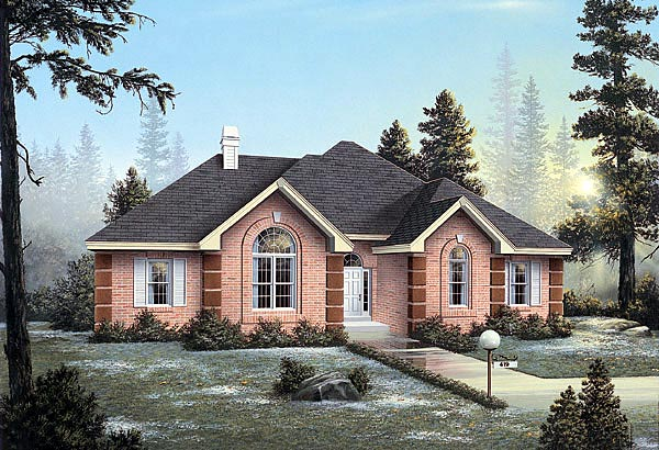 Traditional House Plan 87343 Elevation