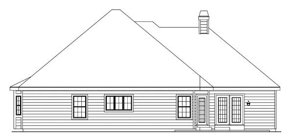 Traditional House Plan 87343 Rear Elevation