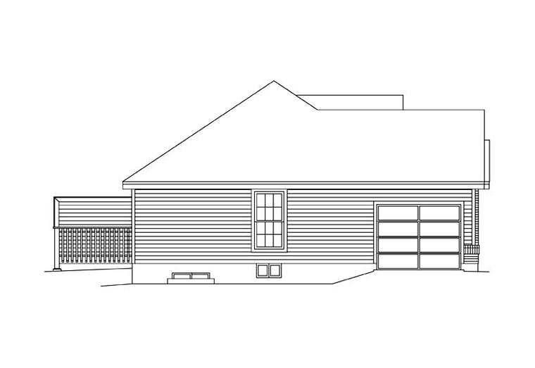 Ranch Multi-Family Plan 87346 with 4 Beds, 2 Baths, 2 Car Garage Picture 1