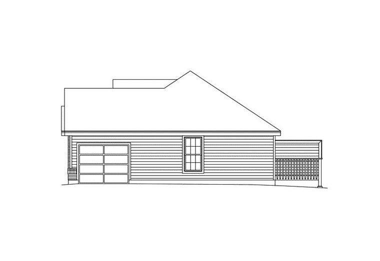 Ranch Multi-Family Plan 87346 with 4 Beds, 2 Baths, 2 Car Garage Picture 2