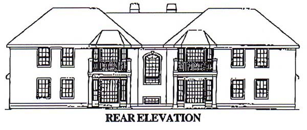 Mediterranean Multi-Family Plan 87349 Rear Elevation