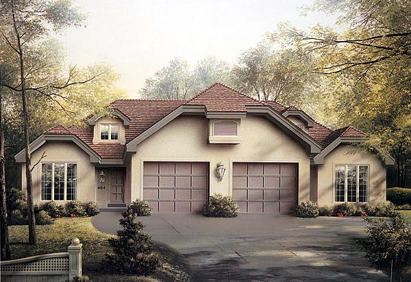 Traditional Multi-Family Plan 87352 Elevation