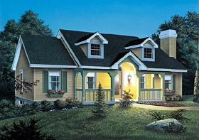 Cape Cod House Plan 87356 Elevation