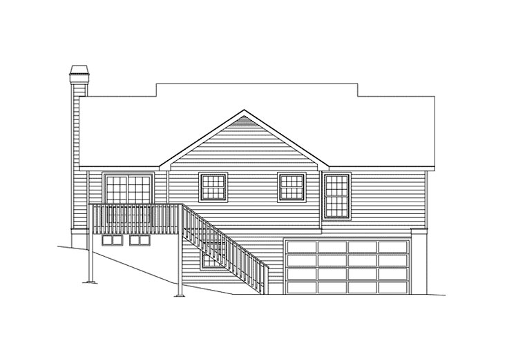 Cape Cod House Plan 87356 Rear Elevation