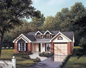 Cape Cod House Plan 87357 with 3 Beds, 2 Baths, 1 Car Garage Elevation