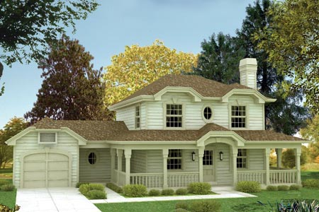 Farmhouse House Plan 87359 with 3 Beds, 3 Baths, 1 Car Garage Elevation