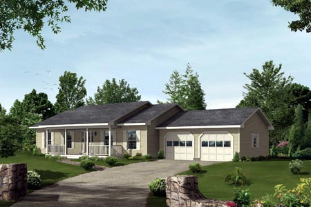 Ranch House Plan 87364 Elevation