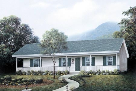 Ranch House Plan 87365 Elevation