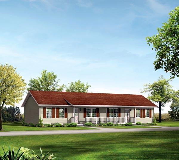 Ranch Multi-Family Plan 87367 Elevation