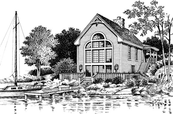 Victorian House Plan 87369 Rear Elevation