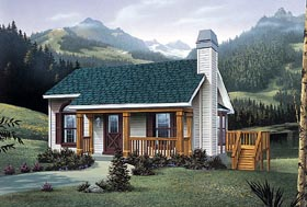 Plan Number 87371 - 914 Square Feet