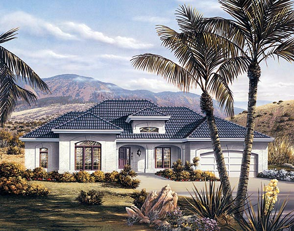 Mediterranean House Plan 87374 Elevation