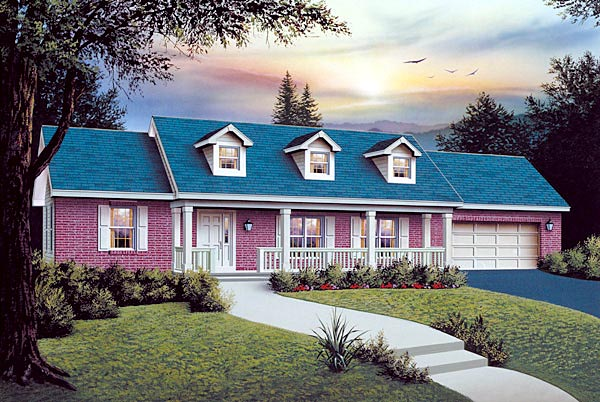 Ranch House Plan 87375 Elevation