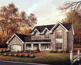 Country House Plan 87376 Elevation