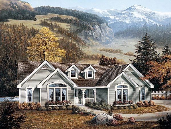 Traditional House Plan 87380 Elevation
