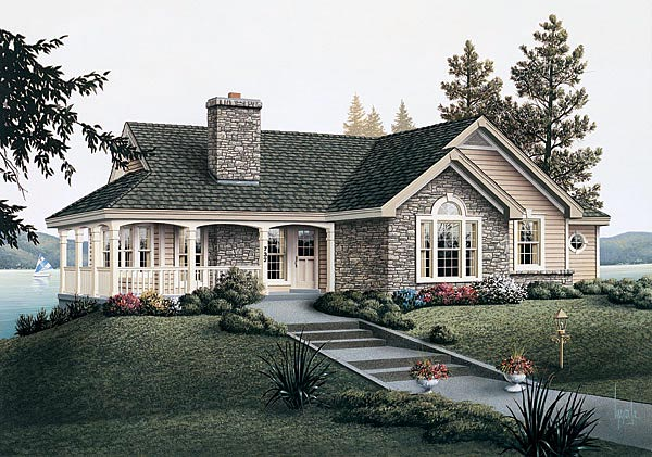 Country House Plan 87381 Elevation