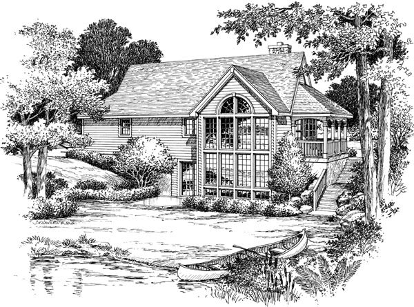 Country House Plan 87381 Rear Elevation
