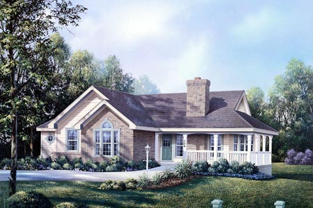 Country House Plan 87384 Elevation