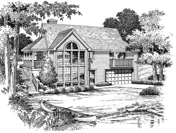 Country House Plan 87384 Rear Elevation