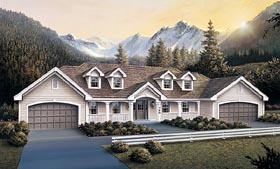 Country Multi-Family Plan 87385 Elevation