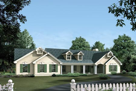 Country House Plan 87387 Elevation