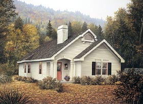 Country House Plan 87389 Elevation