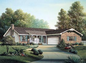 Ranch House Plan 87393 Elevation