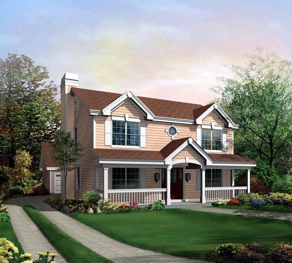 Country, Southern, Traditional House Plan 87397 with 3 Beds, 3 Baths, 2 Car Garage Front Elevation