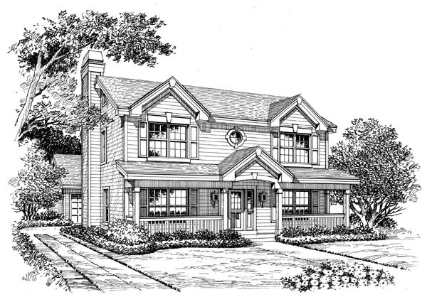 Country, Southern, Traditional House Plan 87397 with 3 Beds, 3 Baths, 2 Car Garage Picture 3