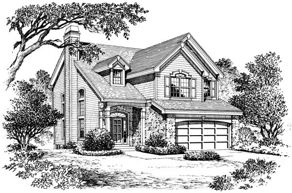Country, Traditional House Plan 87399 with 3 Beds, 3 Baths, 2 Car Garage Picture 3