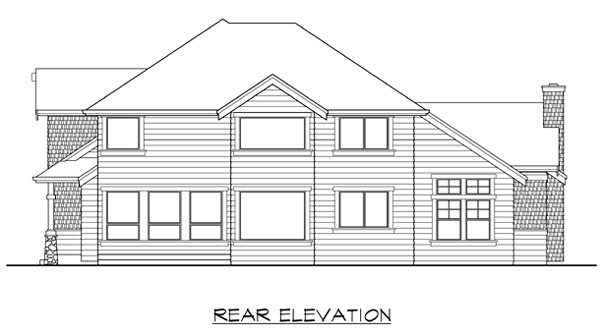 Craftsman House Plan 87402 Rear Elevation