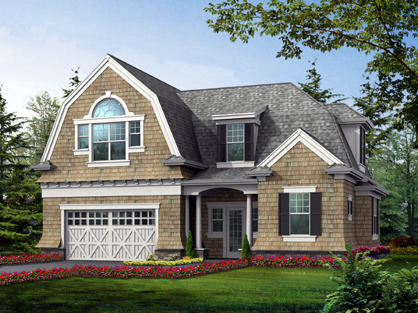 Craftsman, Farmhouse House Plan 87405, 2 Car Garage Front Elevation