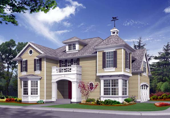 Colonial House Plan 87410 Elevation