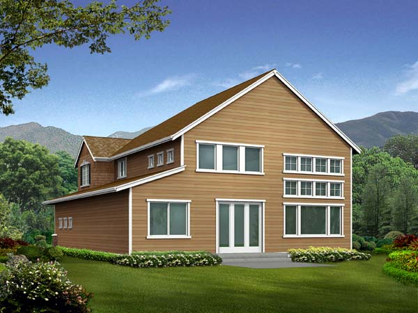 Craftsman House Plan 87428 Rear Elevation