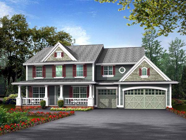 Country House Plan 87437 with 4 Beds, 4 Baths, 3 Car Garage Elevation