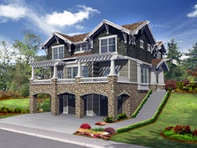 House Plan 87440 Elevation
