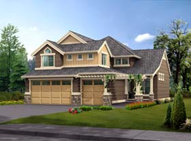 House Plan 87441 | Craftsman Traditional Style Plan with 2765 Sq Ft, 4 Bedrooms, 3 Bathrooms, 3 Car Garage Elevation